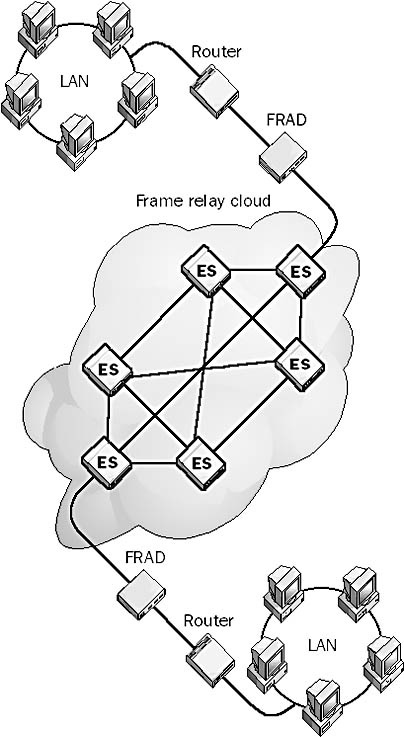 Frame relay wan link.