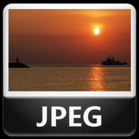 Joint Photographic Experts Group picture example sunset over the sea.
